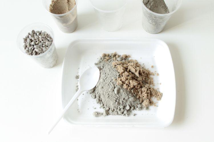 Materials needed for a concrete planter