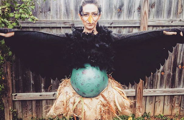 Bird and egg costume