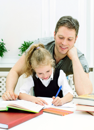 Homeschooling father