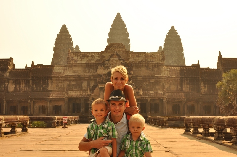 Matúš family in Thailand and Cambodia
