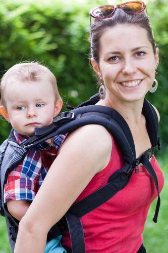 Katarína with her son